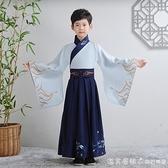 漢服男童春秋兒童古裝演出服國學服裝女童書童弟子規中國風表演服 美眉新品