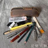 手工復古頭層牛皮真皮筆套創意禮品筆袋    至簡元素
