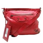 BALENCIAGA 巴黎世家 紅色山羊皮肩背包 177289 【二手名牌BRAND OFF】