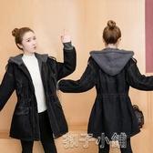 牛仔外套羊羔毛牛仔外套女秋冬季新款時尚寬鬆韓版中長款加厚棉衣服潮 扣子小鋪