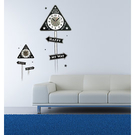 【收藏天地】RoomDeco*創意時鐘壁貼家飾-三角路標 /掛鐘 時鐘貼 居家 生活用品 時鐘 禮物