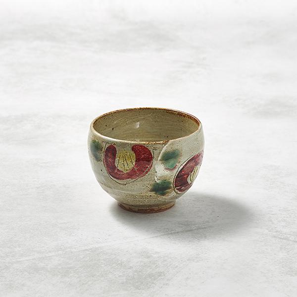 日本美濃燒 - 手感和風茶杯 - 山茶花