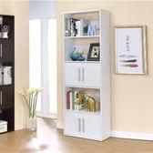 五層雙門展示架/附門隔間櫃/雙面書櫃/書架/高低櫃