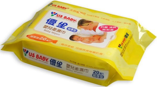 優生 嬰兒濕紙巾 20抽【躍獅】