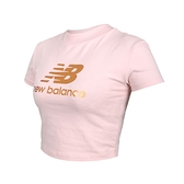 NEW BALANCE 女短版短袖T恤(休閒 上衣 NB≡體院≡ WT13503OPK