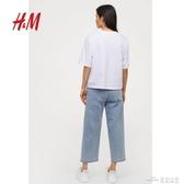 當當衣閣-HM 女裝加菲貓系列新款 鬆緊腰牛仔闊腿褲 0741447