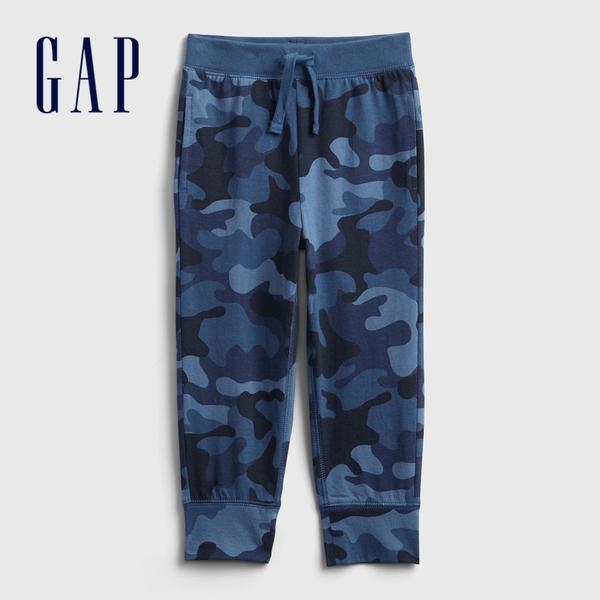 Gap男幼童 布萊納系列 迷彩時尚休閒運動褲 673732-藍色迷彩