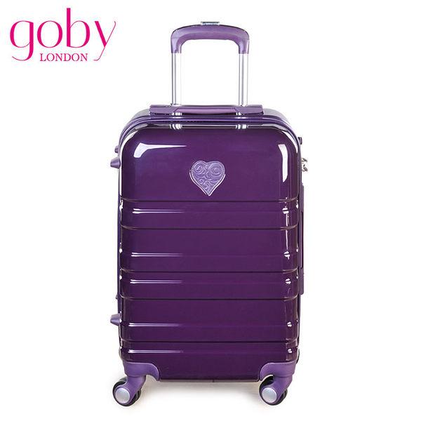 GOBY 果比Love 系列-20吋四輪硬殼登機行李箱拉桿箱 L804-山竺紫[禾雅時尚]