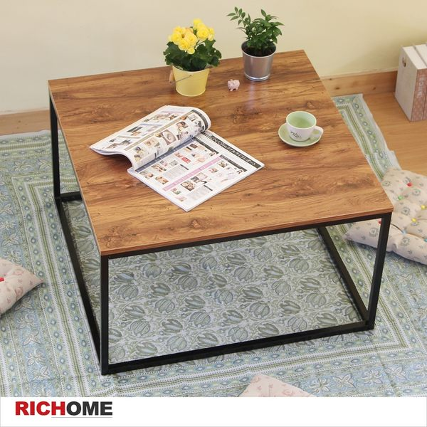 【RICHOME】TA343 《漢堡極簡風尚方茶几》 書桌/工作桌/電腦桌/辦公桌/雙抽屜/抽屜/DIY