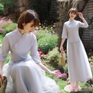 洋裝伴娘服中式仙氣質中國風姐妹團伴娘禮服女2019新款復古民國風旗袍
