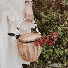 柳編采摘籃藤編提籃禮品籃竹編筐手提包野餐籃草編包沙灘包菜籃子 一米陽光