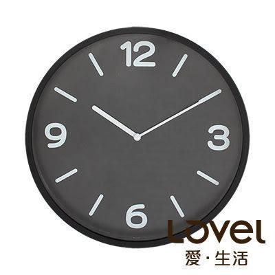 LOVEL 30cm 黑色黎明簡約膠框壁掛時鐘(P300B-BK) 台灣製造 里和 Riho