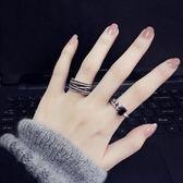 戒指戒指女純銀食指簡約冷淡風學生個性大氣指環