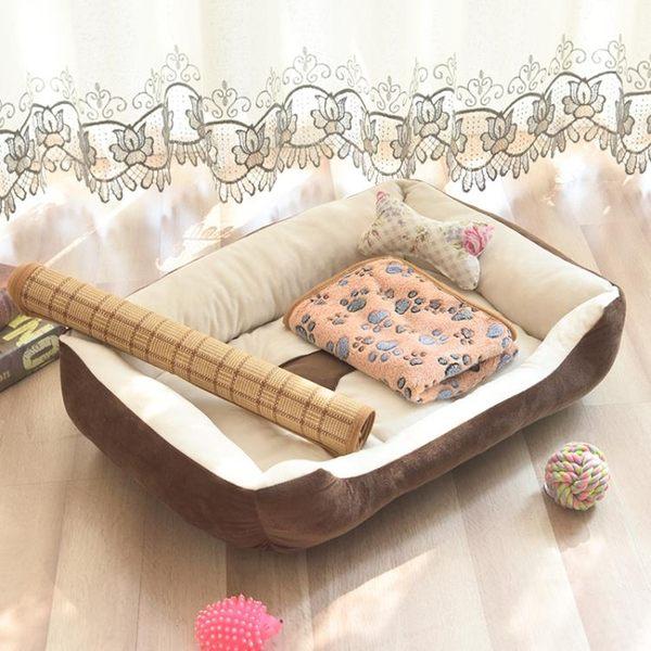 四季狗窩泰迪寵物窩狗屋貓窩小型中型大型犬金毛狗床墊子寵物用品 【PINKQ】