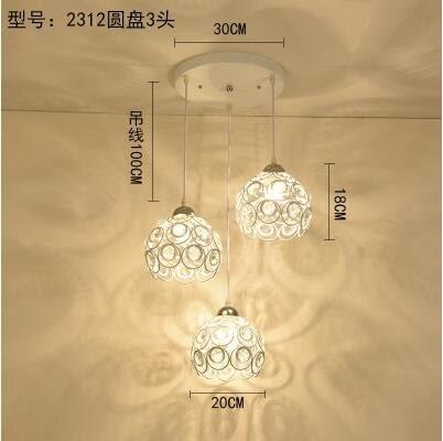 2312白色圓盤款北歐餐廳吊燈創意個性餐廳燈飯廳燈現代鐵藝