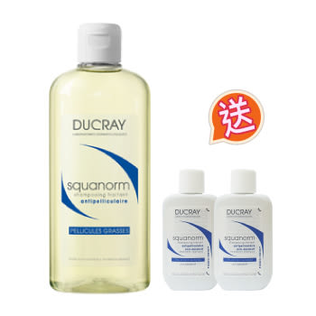 護蕾Ducray K油清屑洗髮精200ml再送隨身瓶30ml*2入 EXP:2019.04