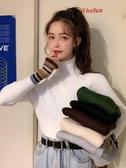 毛衣 白色打底衫女秋冬季洋氣2020新款正韓內搭毛衣長袖高領上衣ins潮【快速出貨】