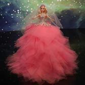 芭比娃娃婚紗新娘時尚兒童超大芭比娃娃裙女孩仿真扮家家酒單個生日玩具配件