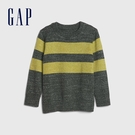 Gap男幼童 時尚條紋設計圓領針織衫 626752-綠色條紋