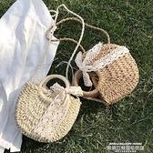 草編包 編織包女草編包包新款潮沙灘側背斜背包女百搭ins夏天手提包 萊俐亞