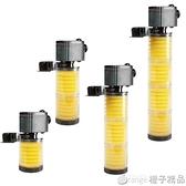 鬆寶魚缸過濾器靜音三合一內置潛水泵過濾設備水族箱過濾器增氧泵  (橙子精品)