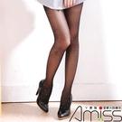 Amiss【A607-11】個性圖騰褲襪♥銀蔥直條桃心
