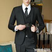 男士西服套裝三件套青少年韓版結婚正裝單西外套修身休閒小西裝