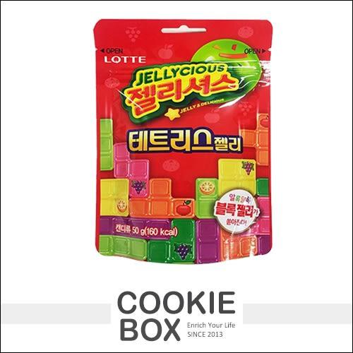 韓國 LOTTE 樂天俄羅斯方塊造型水果軟糖 50g *餅乾盒子*