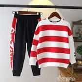 童裝男童秋裝套裝兒童秋季中大童正韓衣運動洋氣兩件套 新年禮物