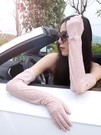 蕾絲開車防曬手套女士薄款夏天防紫外線冰袖長款防滑 琉璃美衣