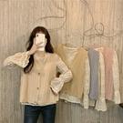 DE shop - 刺繡蕾絲衫針織毛衣馬甲背心 - A-255