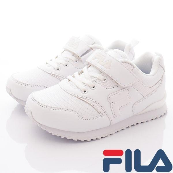 ▌48H ▌【FILA】頂級童鞋-純白運動慢跑鞋-813R-111-白-(20cm-24cm)