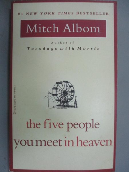 【書寶二手書T1/勵志_LBV】Five people You Meet in Heaven_Mitch Albom