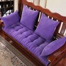 沙發墊 紅實木沙發墊冬季加厚防滑坐墊木頭沙發中式三人座通用飄窗墊訂做