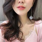 耳環韓國簡約百搭耳飾品個性夸張吊墜潮人耳墜長款氣質耳釘女