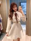 毛呢裙 秋冬季小個子氣質毛呢連衣裙女裝2021新款韓版時尚法式小香風裙子 歐歐