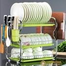 瀝水碗架碗碟盤子架晾洗餐具碗筷收納盒家用廚房置物架【小獅子】