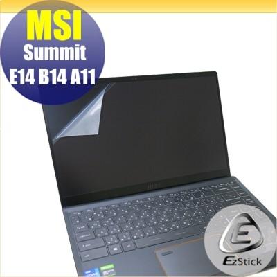 【Ezstick】MSI Summit E14 Summit B14 靜電式筆電LCD液晶螢幕貼 (可選鏡面或霧面)