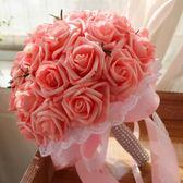 韓式新娘手捧花結婚仿真花束婚禮花球diy材料婚紗手捧花拍照道具  居家物語