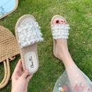 沙灘鞋 拖鞋女夏外穿2021年新款風網紅時尚超火平底仙女風沙灘鞋海邊 愛丫 新品