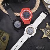 韓版簡約情侶運動手錶電子錶夜光多功能手錶學生男女錶數字式 街頭布衣