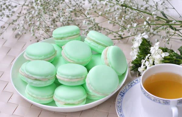 香草哲雪茉莉綠茶馬卡龍手工皂