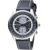 CITIZEN星辰潮流魅力光動能手錶 CA7030-11E 黑皮