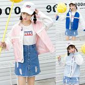 棒球外套 夾克刺繡棒球服百搭韓版bf原宿風短款