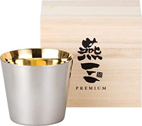 PREMIUM燕三【日本代購】和平フレイズ 24K鍍金 不銹鋼杯260ml 1件套 木盒装 典藏 送禮 EM-9401