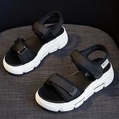 X-INGCHI女款黑色厚底休閒涼鞋-NO.X0240
