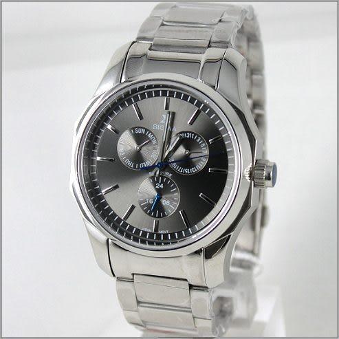 【萬年鐘錶】SIGMA日系 三眼時尚錶 1018M-01