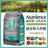 *WANG*美國Nutrience紐崔斯《INFUSION天然室內貓飼料-雞肉》5公斤