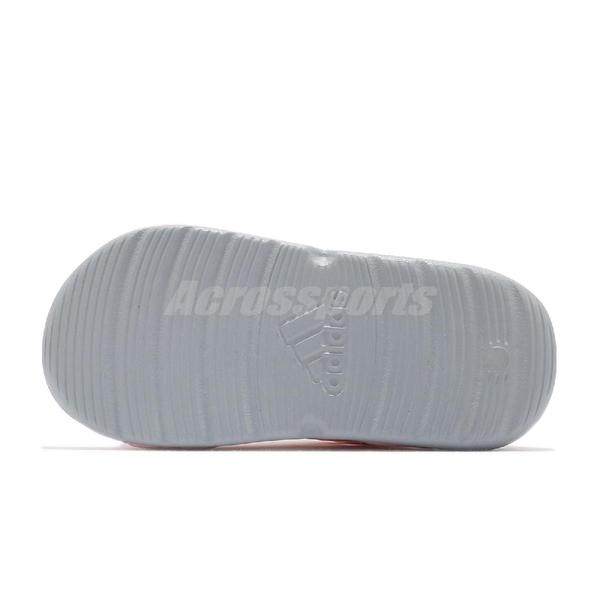 adidas 涼鞋 Swim Sandal I 粉紅 灰 童鞋 小童鞋 小朋友 愛迪達 兒童 涼拖鞋 【ACS】 FY8065