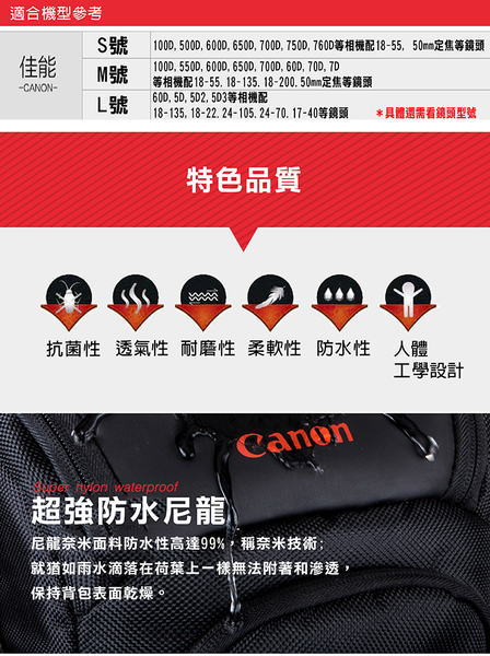 御彩數位@Canon槍包-M號 防水款 單眼 相機包 三角包 槍包一機一鏡 微單眼防雨罩防塵罩防潑水